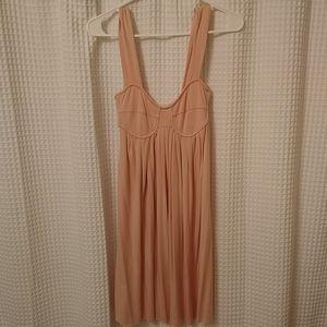 Perfect blush pink corset top dress